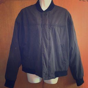 VTG SF Derby Jacket Black Zip Cotton Poly SM 34-36